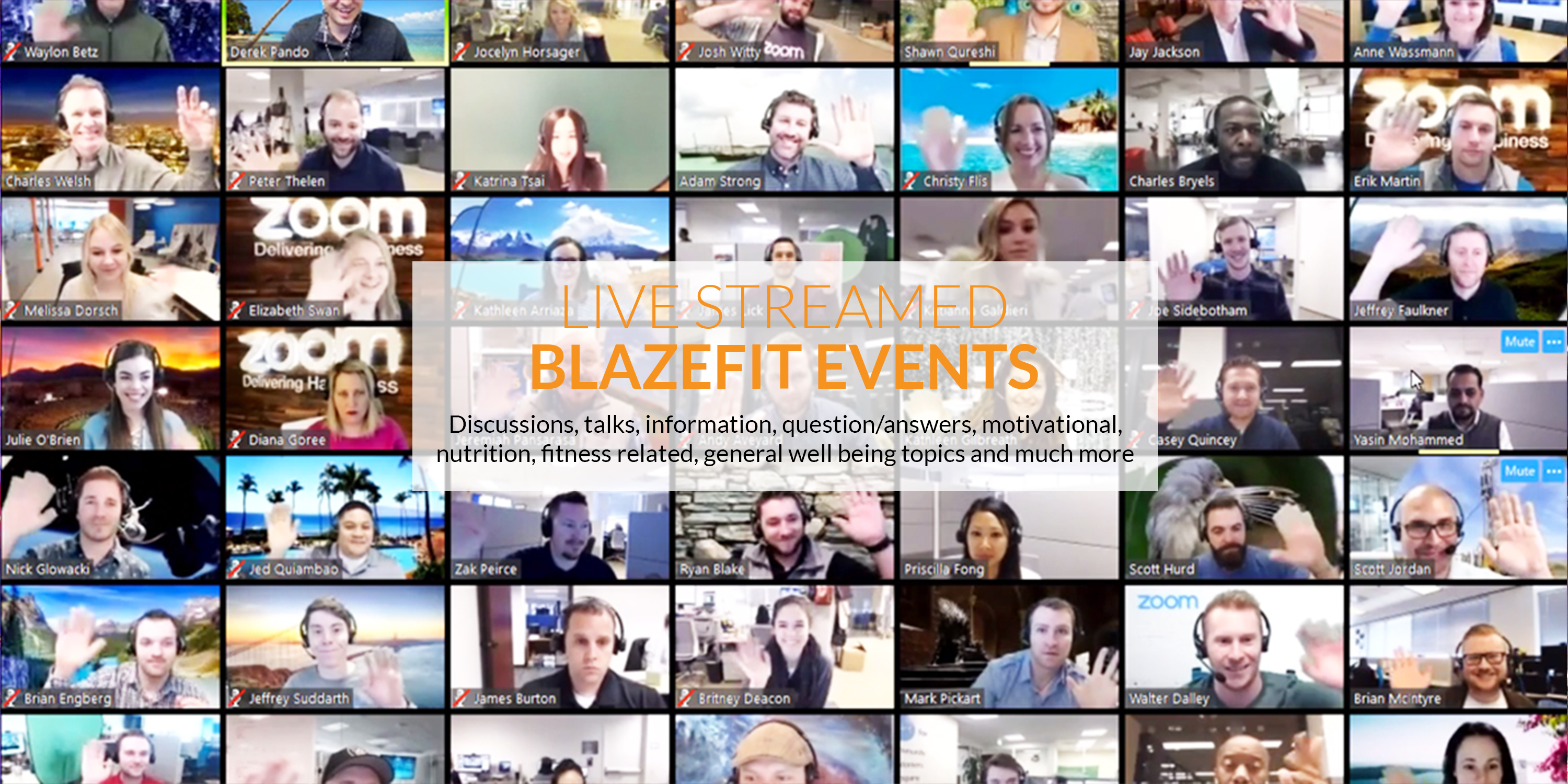 >BlazeFit events and well being talks